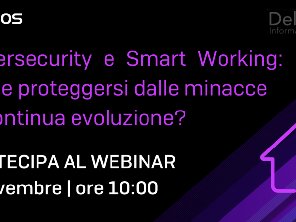Webinar CYBERSECURITY e SMART WORKING | 5 novembre ore 10:00
